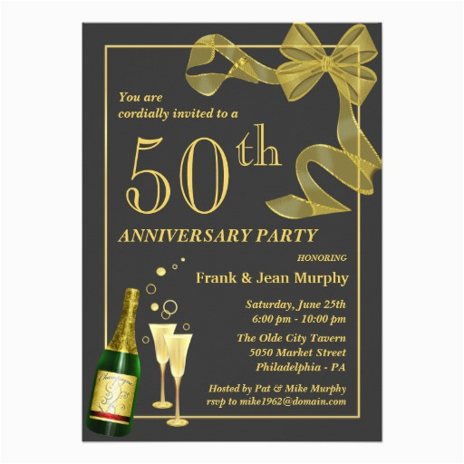 create your own 50th anniversary party invitations 161703392021903511