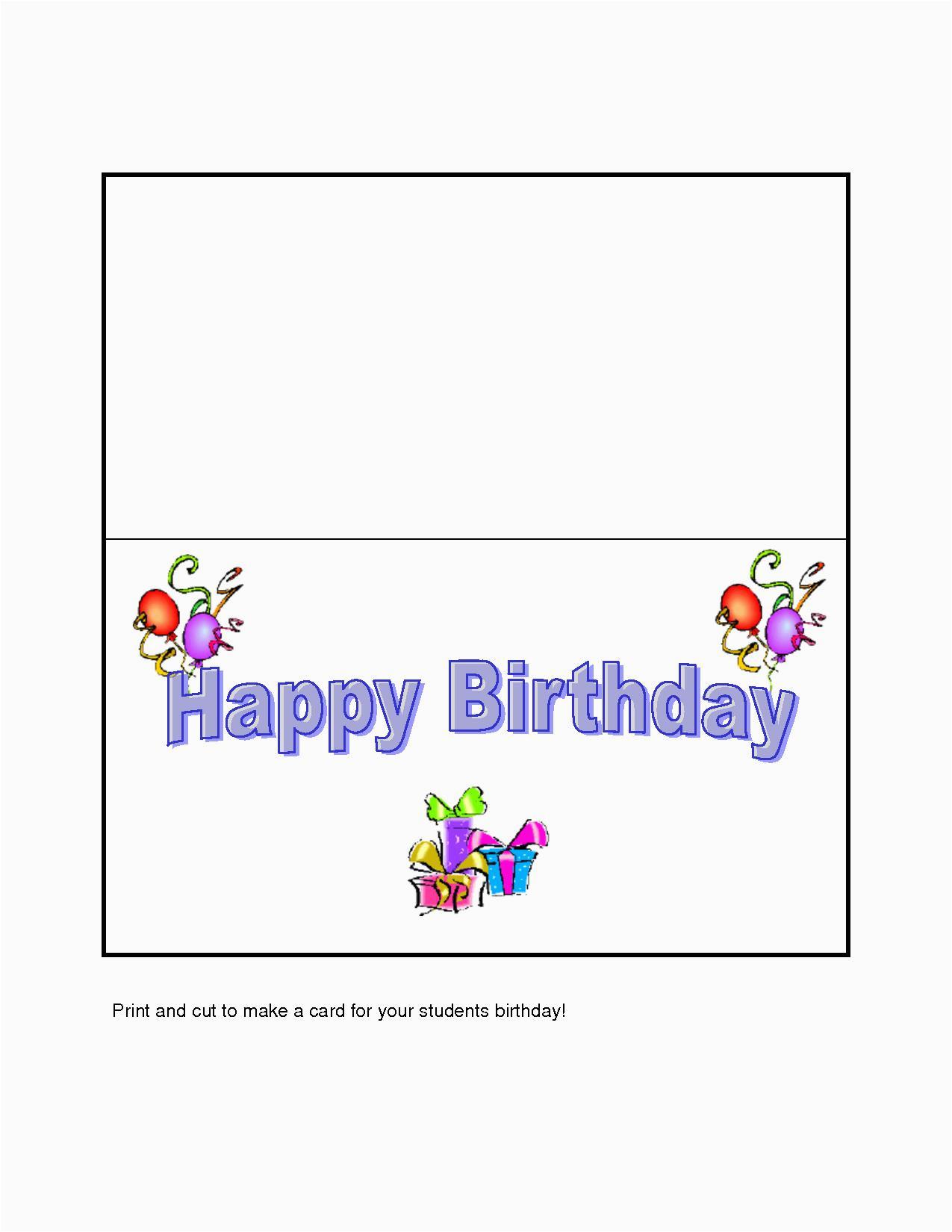 design your own birthday card free printable