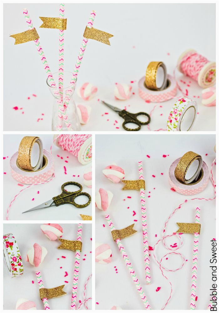 all that glitters party straws diy