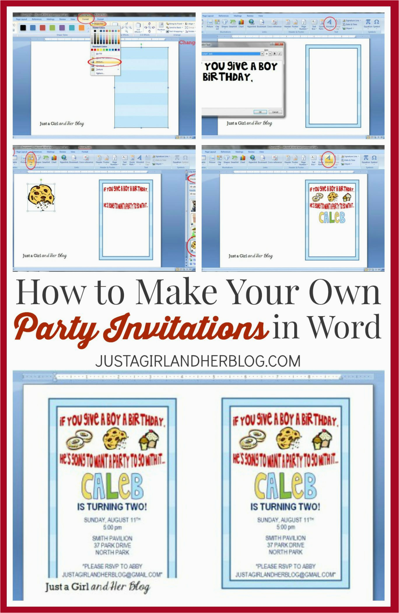 Make Your Own Birthday Invitations Online Free Printable Party Templates
