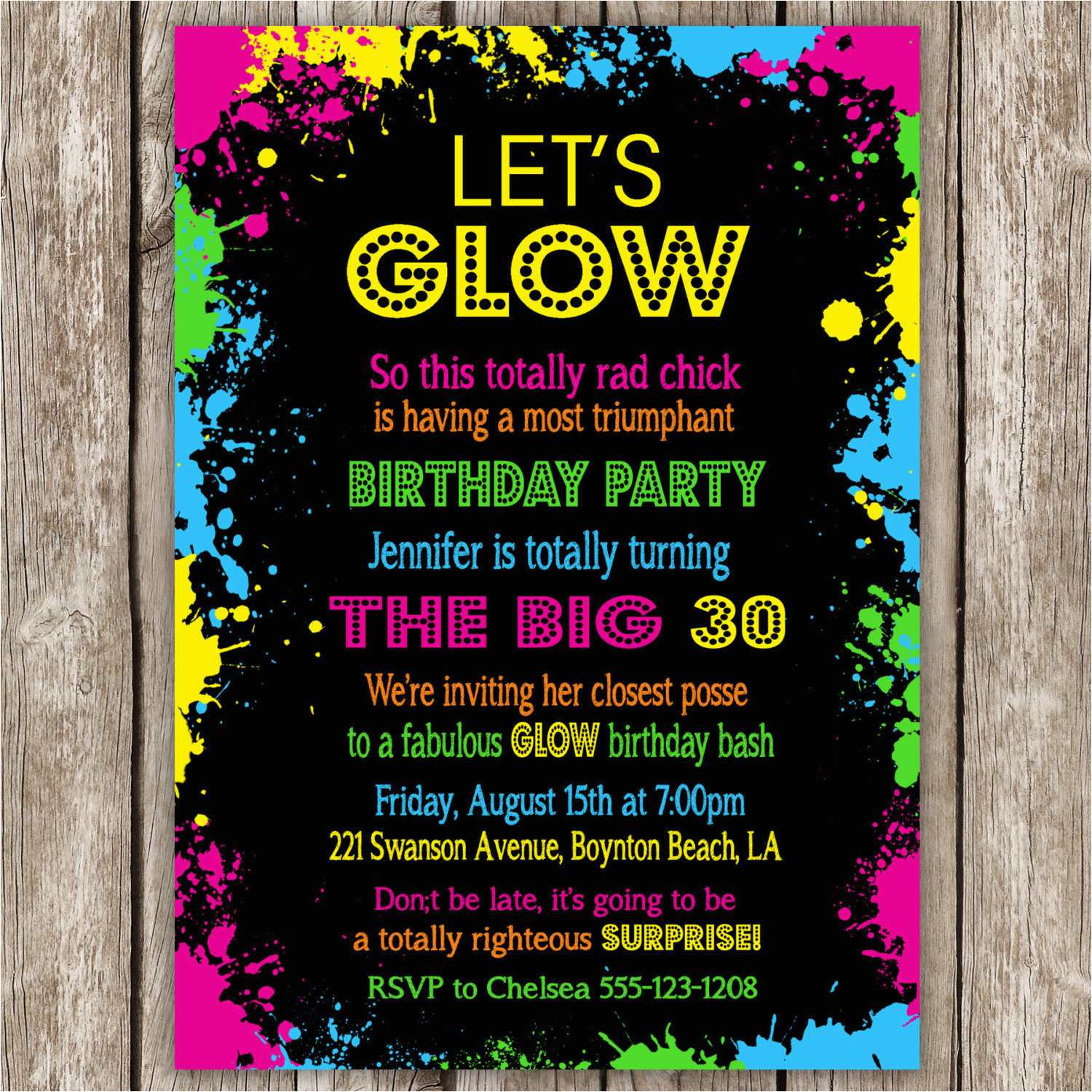throwing your own birthday party invitation wording
