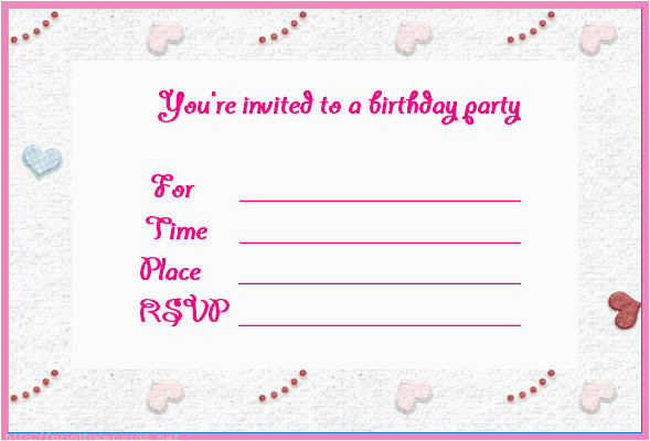 Make Your Own Printable Birthday Invitations Online Free Invites