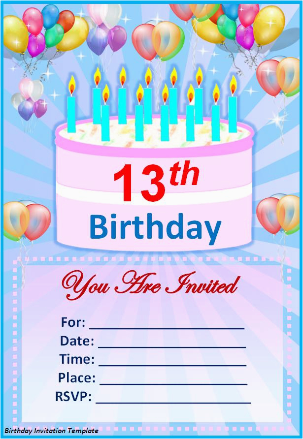 Make Your Own Printable Birthday Invitations Online Free Template Best