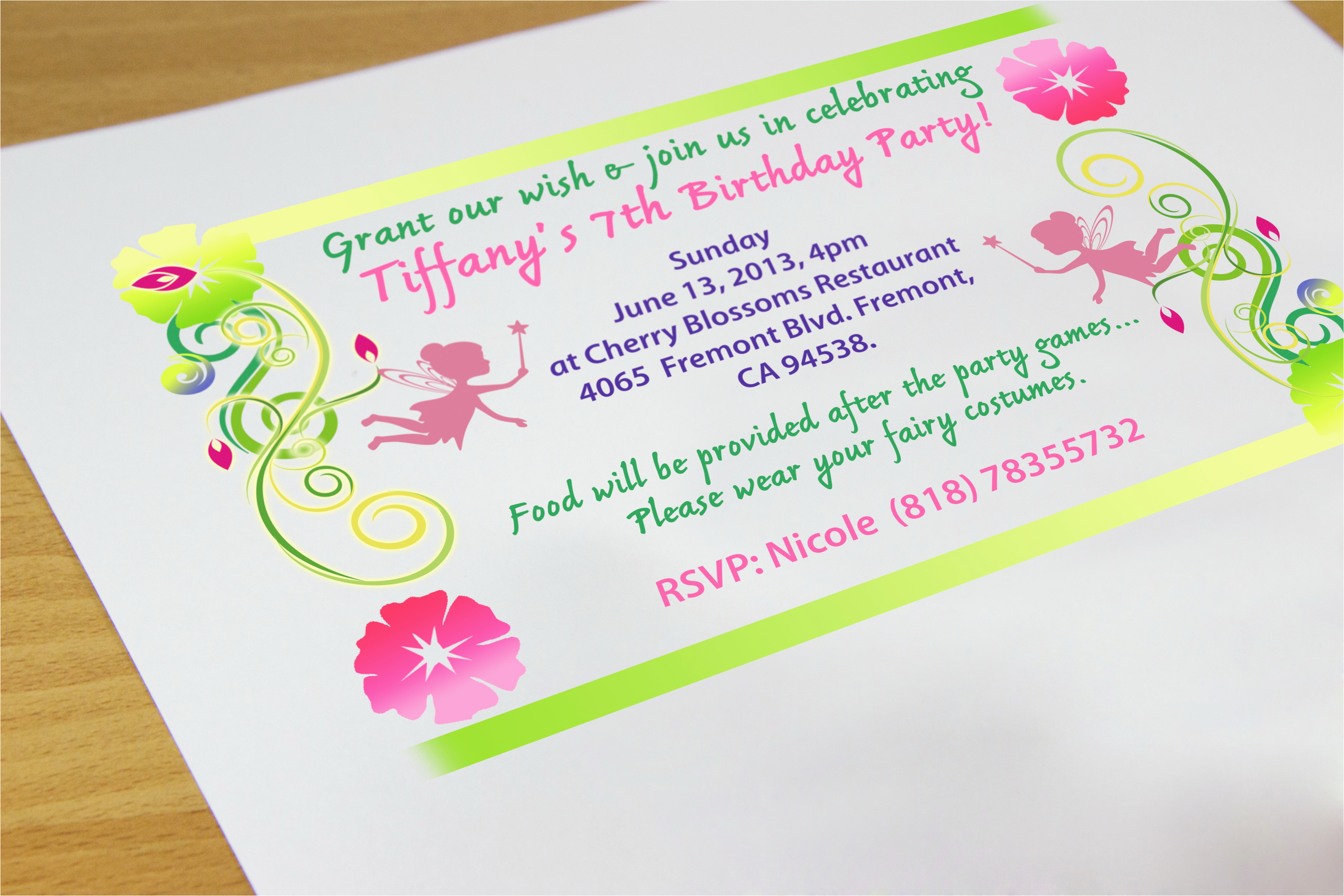 Making A Birthday Invitation How to Create Your Own Birthday Invitations 7 Steps