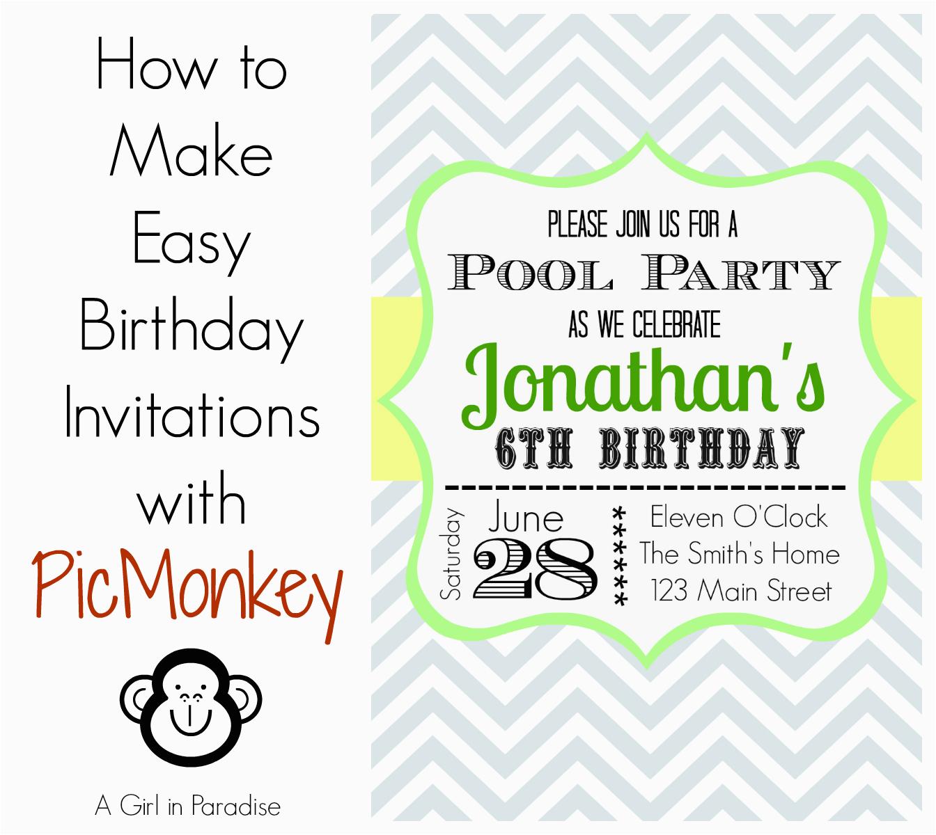 how to make birthday invitations