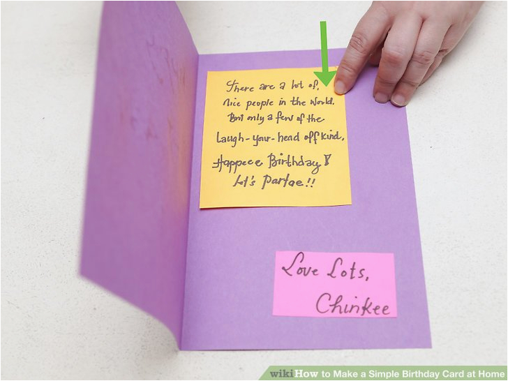 Making Birthday Cards At Home 4 Ways To Make A Simple Card Wikihow