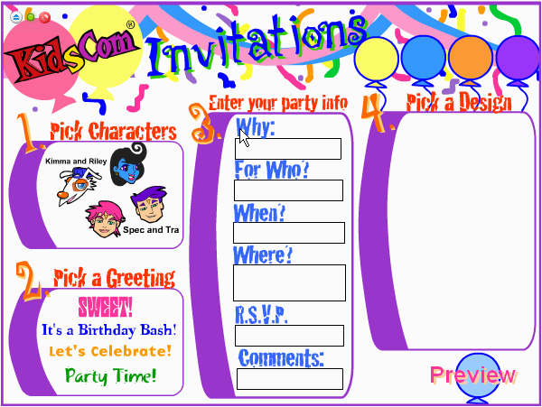 Making Birthday Invitations Online For Free Invites Create