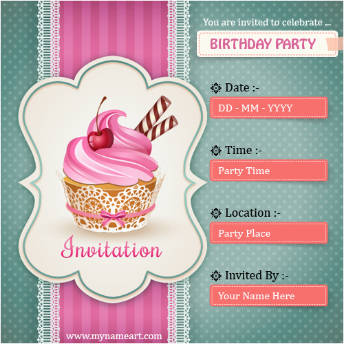 Making Invitation Cards for Birthdays Create Birthday Party Invitations Card Online Free