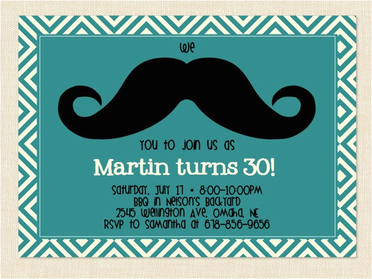 Male 30th Birthday Invitations 50th Invitation Template For Men
