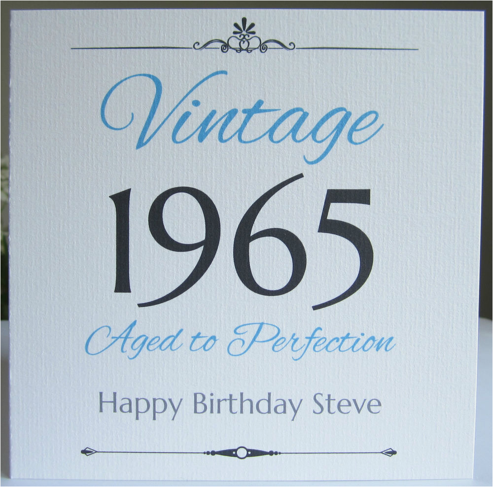 Male 50th Birthday Cards Personalised Handmade Card Men 40th