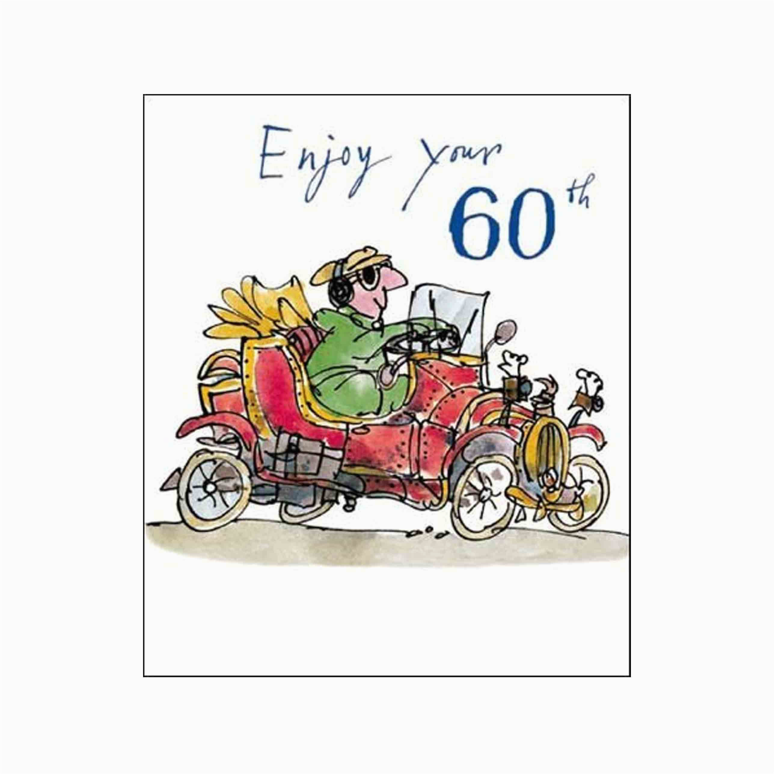 male birthday card enjoy your 60th quentin blake same