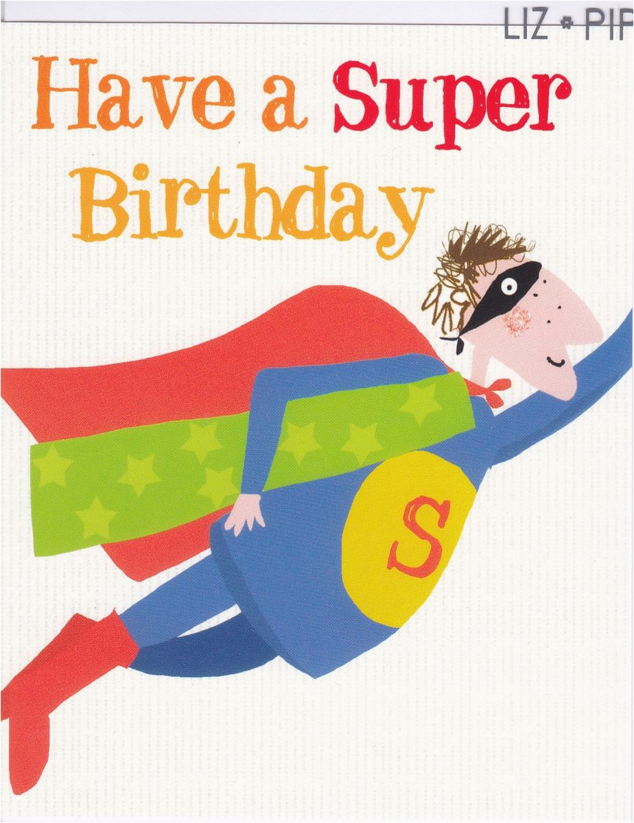 superman birthday card karenza paperie