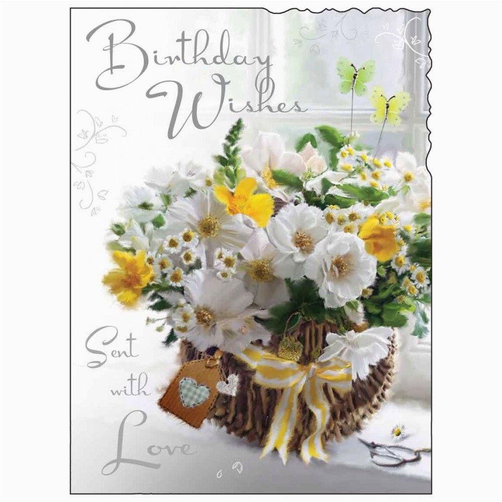 Male Birthday Flowers Birthday Card Female Lady Happy Birthday Flowers
