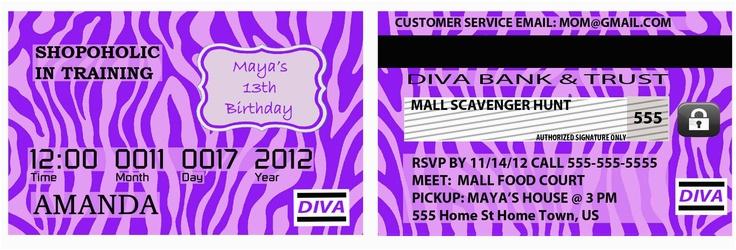 Mall Scavenger Hunt Birthday Party Invitations 78 Best Images About Mall Scavenger Hunt Birthday Party On