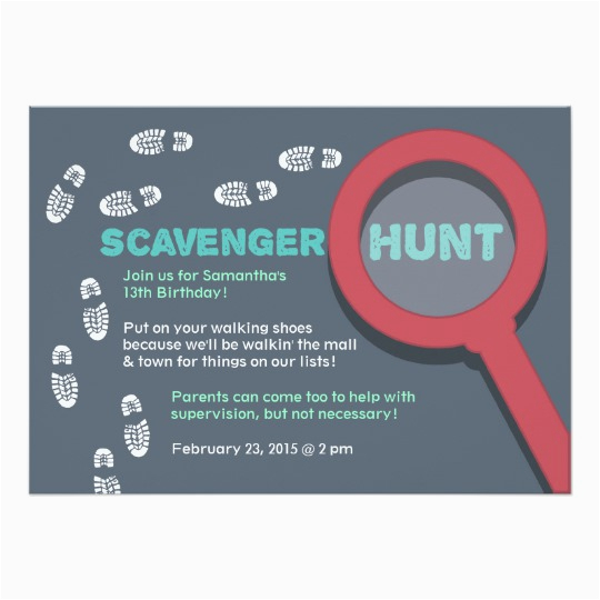 cool scavenger hunt invitation 161825773308462792