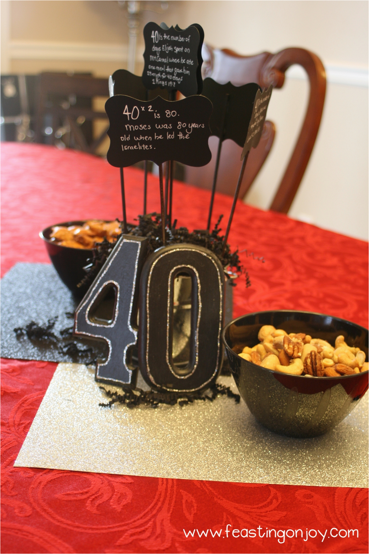 a christian themed manly surprise 40th birthday party