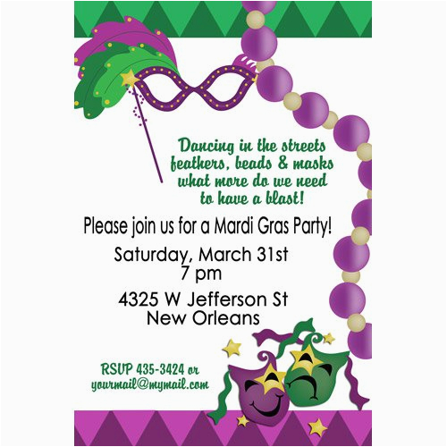Mardi Gras Birthday Invitation Wording Masquerade Ball
