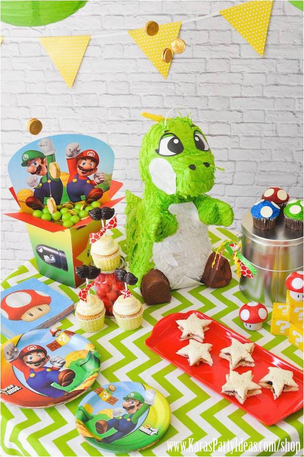 mario themed birthday party karas party ideas shop
