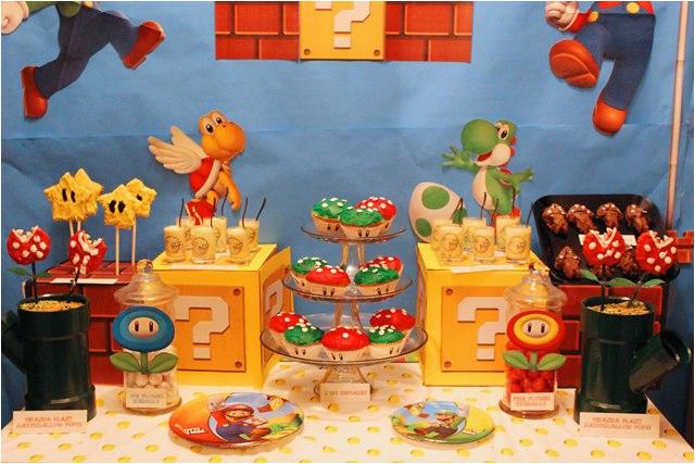 mario themed birthday party