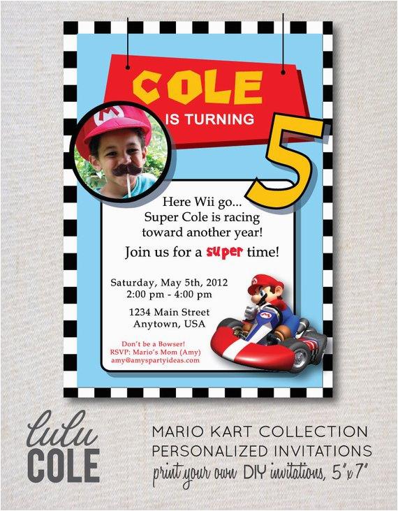 Mario Kart Birthday Invitations Mario Kart Birthday Party Super