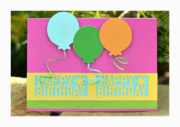 card martha stewart happy birthday punch balloon card