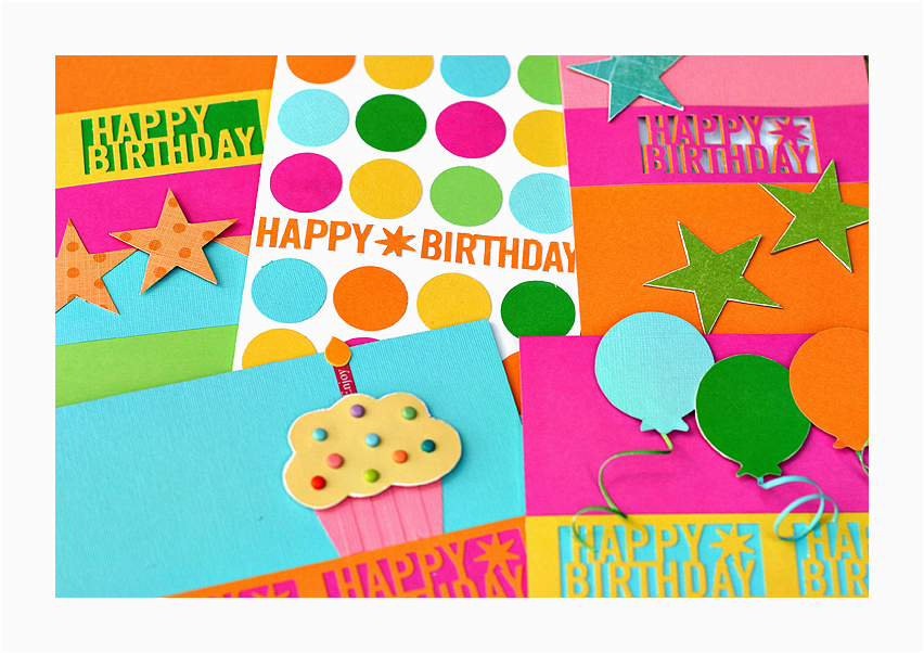 card martha stewart happy birthday punch card collection