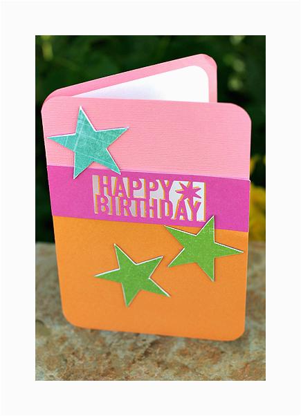 card martha stewart happy birthday punch star card
