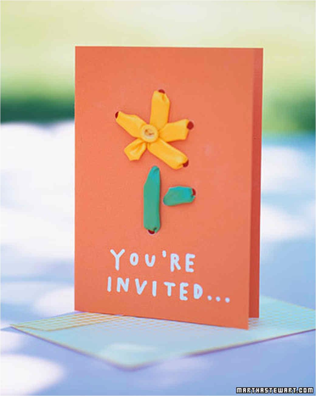 Martha Stewart Birthday Invitations Birthday Party Invitations Martha Stewart