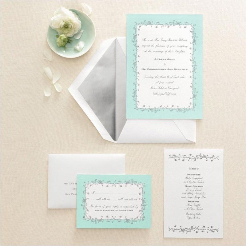 martha stewart invitation template