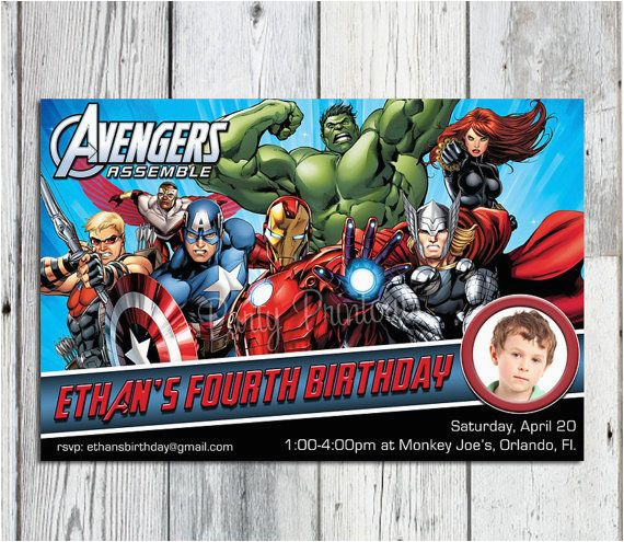 Marvel Avengers Birthday Invitations the Avengers Birthday Invitation Printable Super Hero
