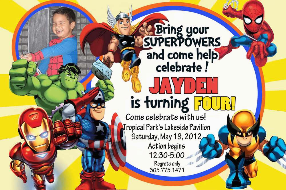 Marvel Superhero Birthday Party Invitations 6 Best Images Of Diy Printable