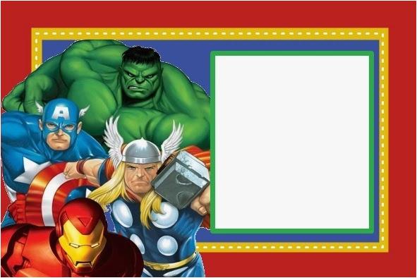 Marvel Superhero Birthday Party Invitations Avengers Lijicinu 953d9af9eba6