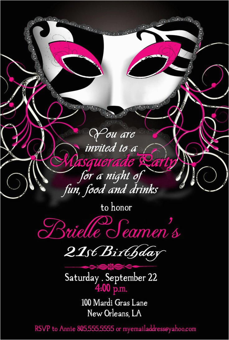 Masquerade Ball Birthday Party Invitations Best Ideas