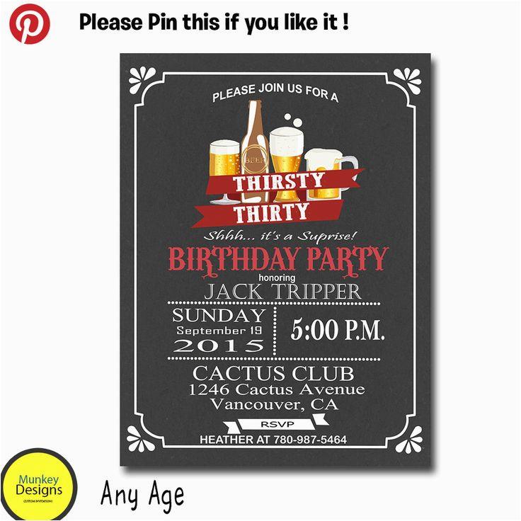 Mens 30th Birthday Invitations Best 25 Men 39 S Ideas On Pinterest Surprise