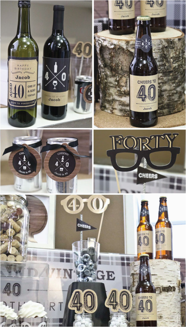 Mens 40th Birthday Decorations Party Ideas For Men Cheers To 40 Years Milestone