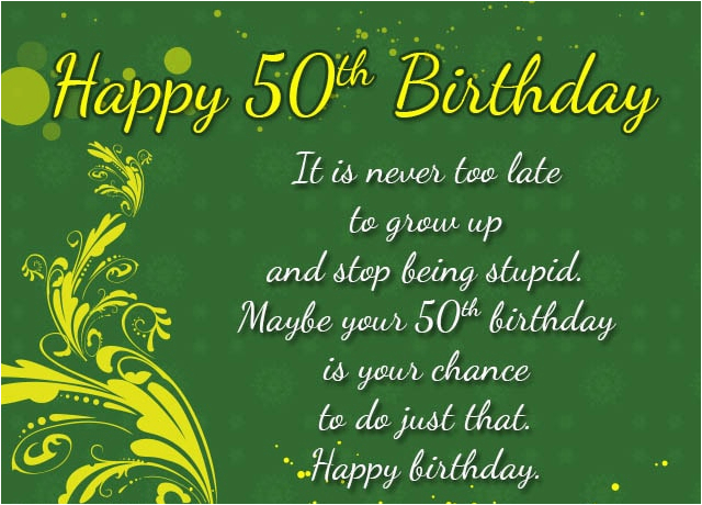 Message for 50th Birthday Card Amsbe 50th Birthday Ecards Cards Messages