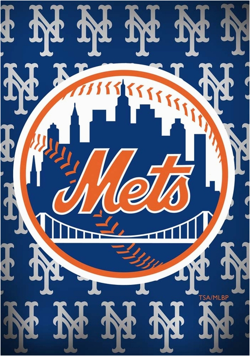 new york mets greeting card with garden flag