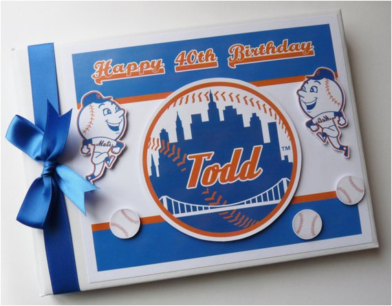 ny mets birthday guest book personalised memory book 39 1st