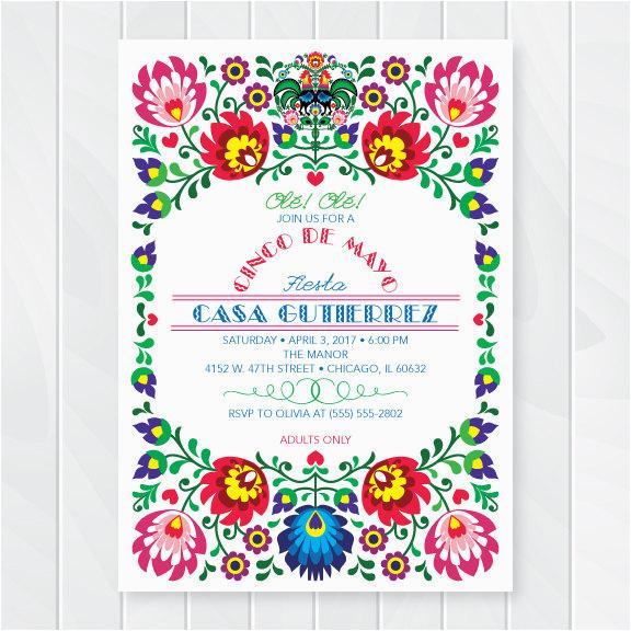 cinco de mayo invitations mexican fiesta invites fiesta party mexican party invitation mexican theme invite printable invitation 5401