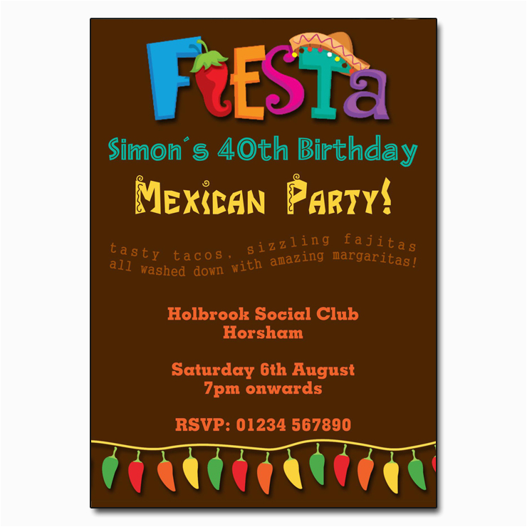 Mexican themed Birthday Invitations Mexican Fiesta Party Invitations the Invitation Boutique