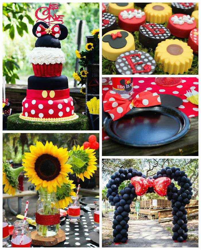 Mickey and Minnie Birthday Party Decorations Kara 39 S Party Ideas Mickey Minnie Mouse Sunshine soiree
