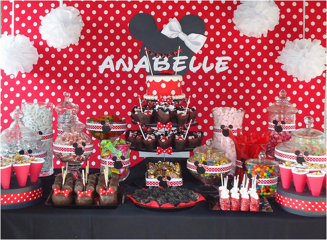 Mickey and Minnie Birthday Party Decorations Minnie Mouse themed Birthday Party Celebration Disney