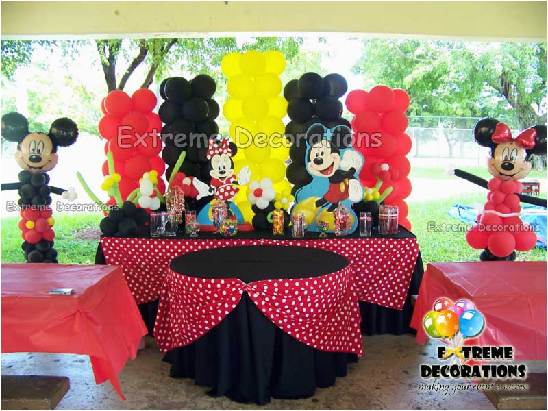 Mickey and Minnie Birthday Party Decorations Party Decorations Miami Balloon Sculptures