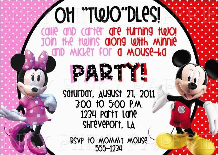 mickey minnie party