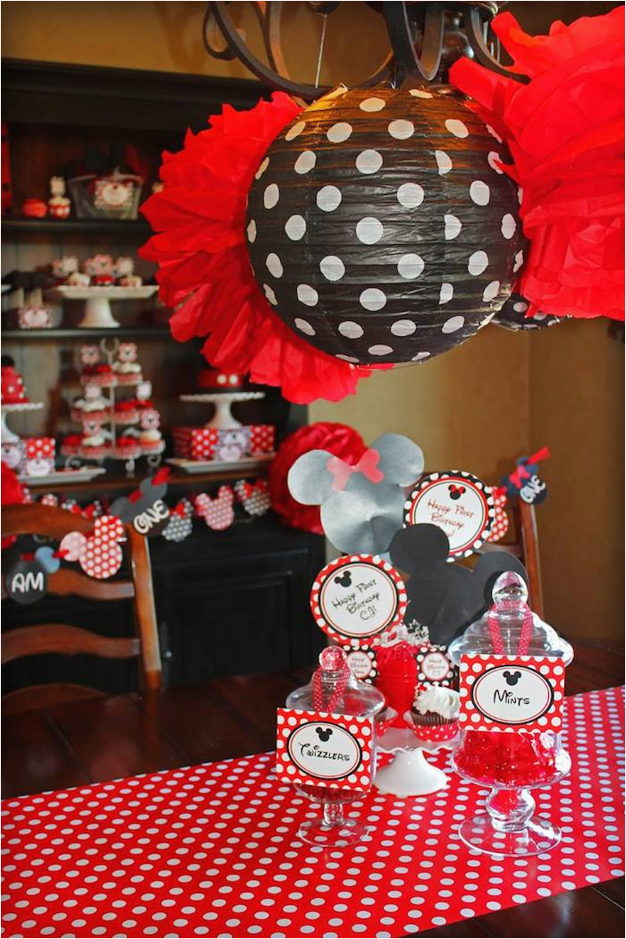 mickey minnie mouse themed 1st birthday party
