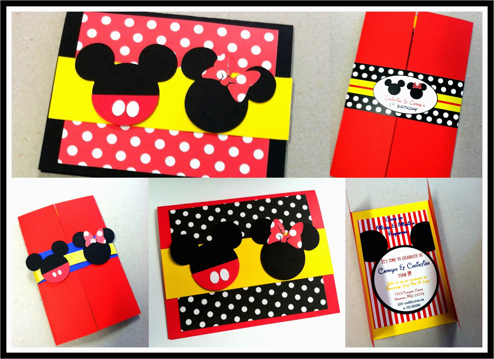 mickey and minnie mouse birthday party