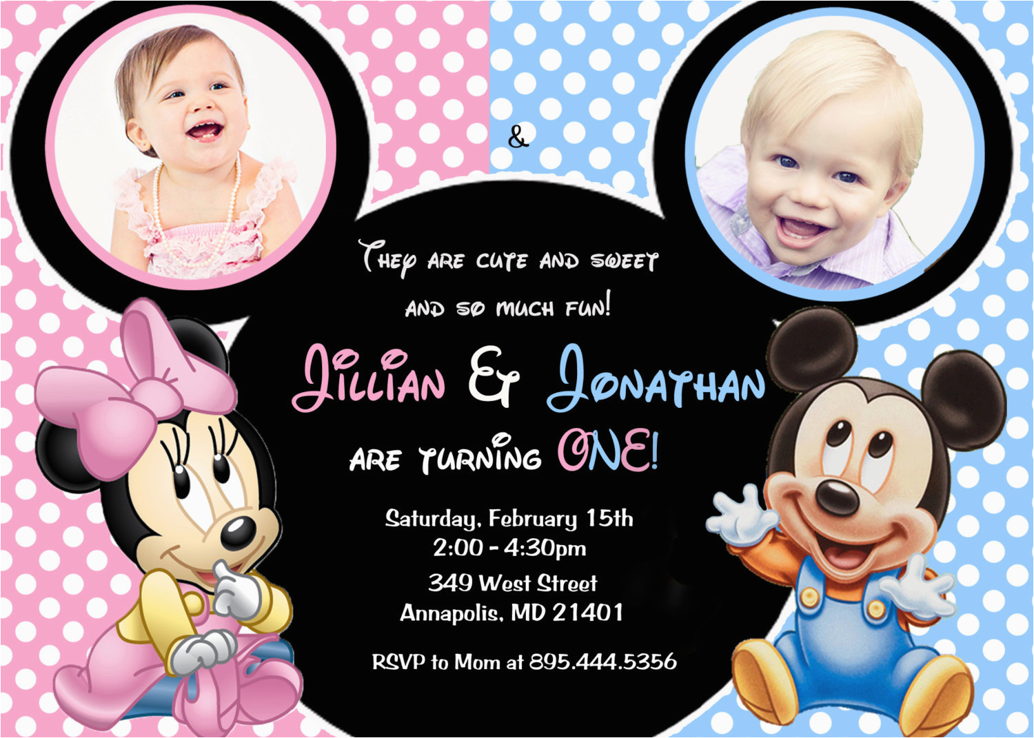 minnie mouse mickey mouse baby one twins