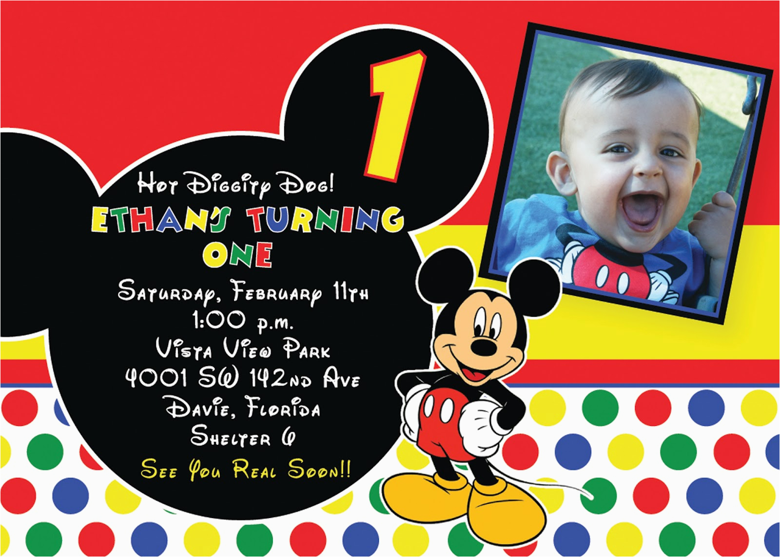 Mickey Mouse 1st Birthday Invites Free Printable Invitations