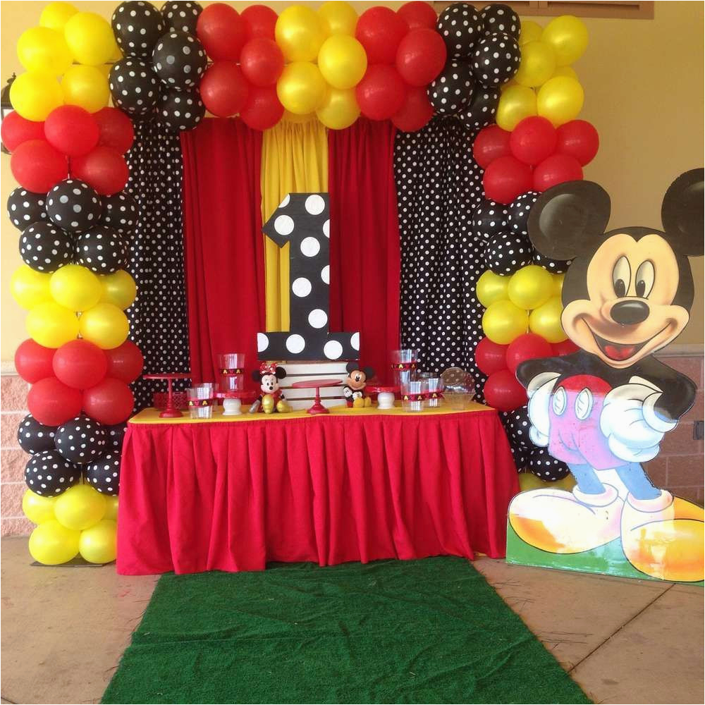 Mickey Mouse Birthday Decorations Cheap Ideas Amusing Party For Your Event