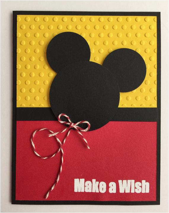 handmade embossed mickey mouse birthday